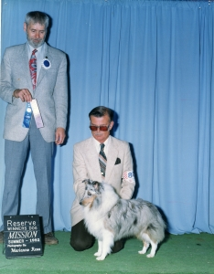 Nat. Ch. Caviar's Blue Polar Bear (3rd ASSA National win)